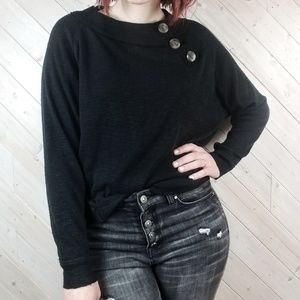 Free People   Don't Forget Me Button Sweatshirt